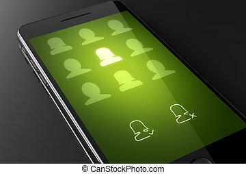Contacts edit - custom smart phone concept