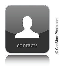 Contacts icon on black glossy icon