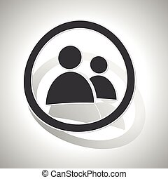 Contacts sign sticker, curved