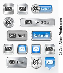 contacts/mail/email, toile, éléments
