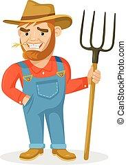 contadino, divertente
