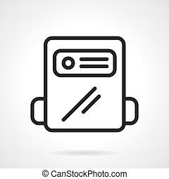 contador, gás, vetorial, pretas, linha, ícone