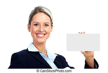 contador, woman., empresa / negocio