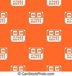 contagem, padrão, vetorial, tábua, laranja, partida