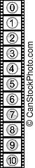 contagem regressiva, filmstrip