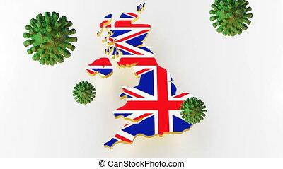 Contagious COVID-19, Flur or Coronavirus with Great Britain ...
