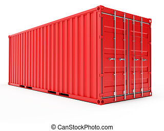 3d illustration of a container