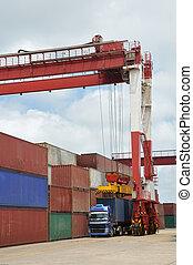 Container cargo crane
