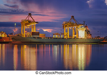 Container Cargo freight ship