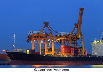 Container Cargo in twilight