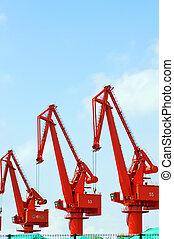 Container Cargo Ship Unloading