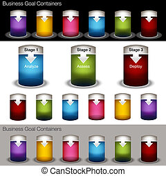 Container Chart Banner Set