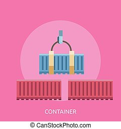 Container Conceptual illustration Design