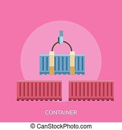 Container Conceptual illustration Design