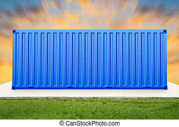 container - Container with sky background.
