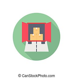 container  flat color icon