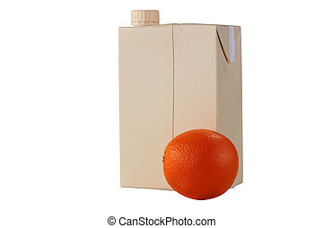 Container for orange juice - The container for orange juice...