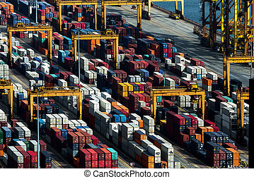 Container for transportation, logistic import export concept