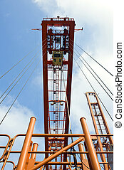 Container hoisting rig