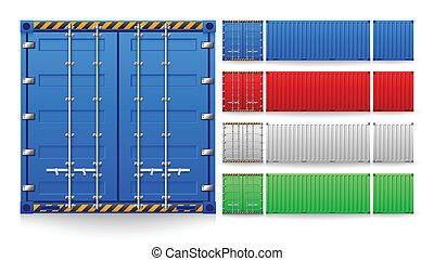 Container - Illustration of cargo container isolated on ...