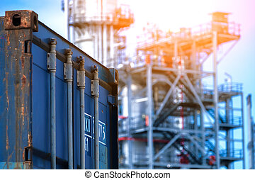 Container in industry plant