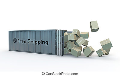 container isolated on white background