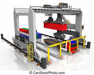 Container  loading station