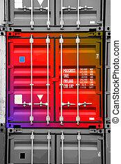 container multicolor black-white 01