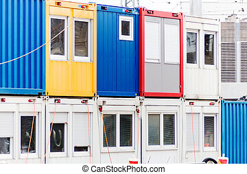 container on construction site - container on a construction...