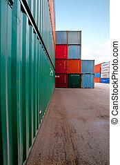 container, opslag, bouwterrein