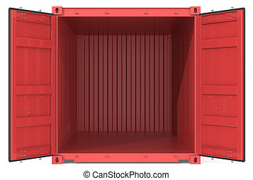 container., ouvert