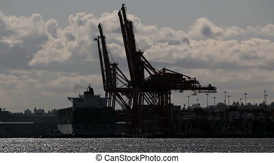 Container Port Cranes - Cranes at the container port...