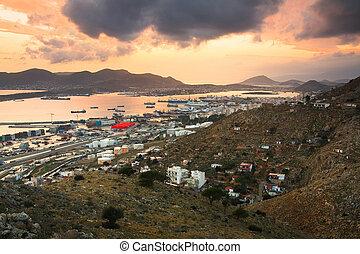 Container port Piraeus, Athens.