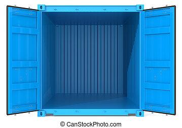 container., rgeöffnete