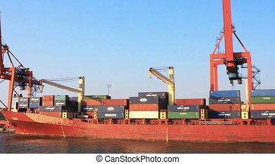 Container ship docked in Port Haydarpasa