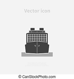 Container ship icon. Vector illustration