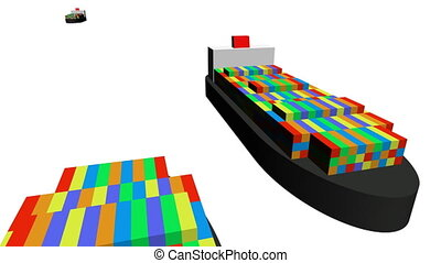 container ships animation