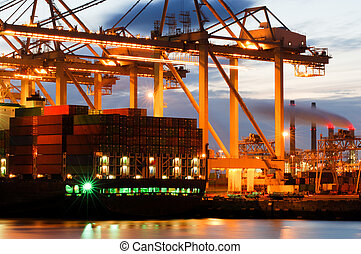 Container terminal activity - The motion and activity of a...