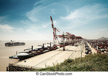 container terminal in shanghai,China