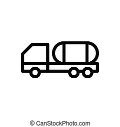 container  thin line icon