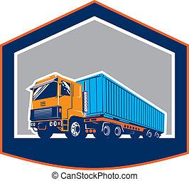 Container Truck and Trailer Shield Retro