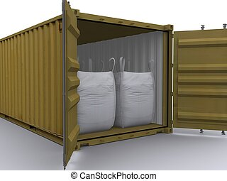 container with big bags