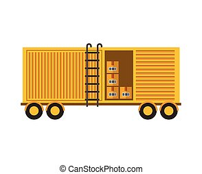 container with boxes