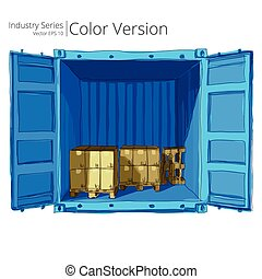 Container with Pallets.
