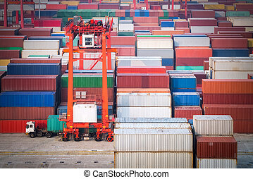 container yard in shanghai