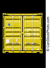 container yellow - stack of conntainer - all company names, ...