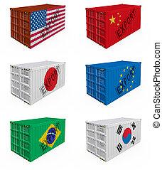 containers, handel