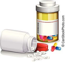 Containers of medical pills
