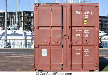 Containers shipping - AUCKLAND - JUNE 01 2014:A Container in...