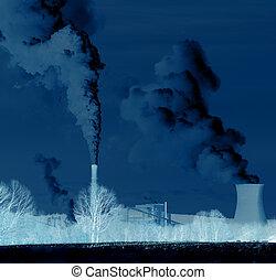 contaminación, -, abuso, de, el, ambiente